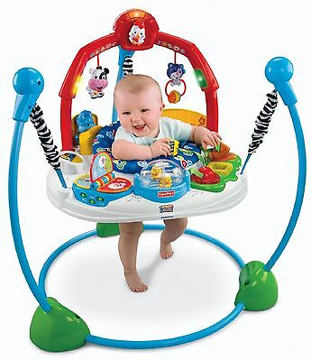 FISHER PRICE JUMPEROO LAUGH AND LEARN Music Sounds Lights Toys Farm Theme ABCs