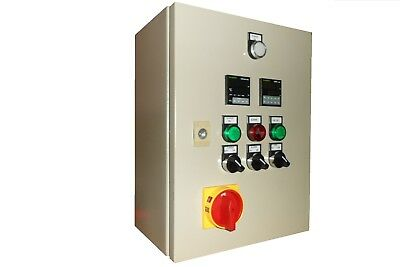Electric kiln, industrial oven control panel