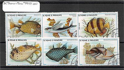 Lot of 21 St. Thomas & Prince Used Stamps #108424 X R