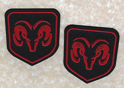 """🚨Lot of 2-3"""" DODGE RAM Truck Iron-on Logo PATCHES! Patch/emblem/badge Black/Red"""