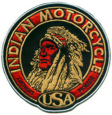 """🏍️4"""" INDIAN MOTORCYCLE Head Logo Iron-on Patch-(For Leather/Vest/Sweater/Shirt)"""
