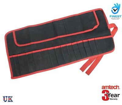 Heavy Duty 15 Pocket Spanner Tool Roll Bag Pouch Wallet Storage Water Resistant