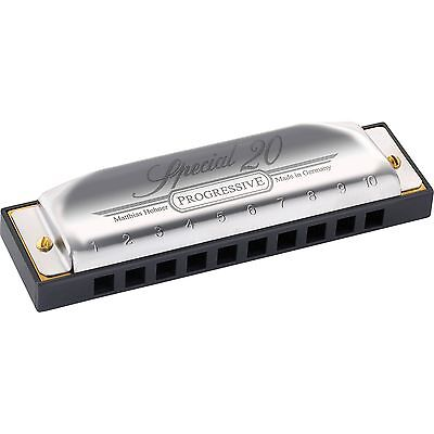 Hohner Special 20 Harmonica in A Progressive Version w/FREE Online Lessons