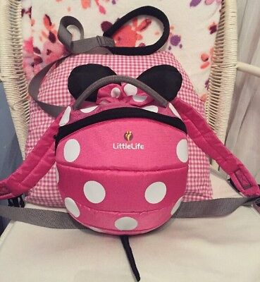 Little Life Pink Disney Minnie Mouse Backpack Reins Toddler Walking Harness NEW!