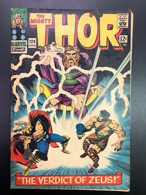 The Mighty Thor #129 (Lee & Kirby, 1966 Marvel)