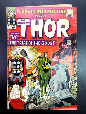 Journey into Mystery with The Mighty Thor #116 (Lee & Kirby, 1965 Marvel)
