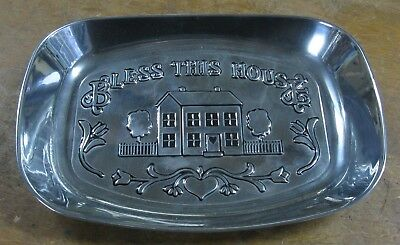 """Wilton Armetale Bread Tray - """"Bless This House"""" #601012 New"""