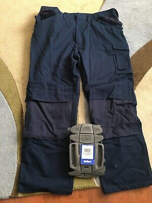 Skillers workgear pants with padded knee