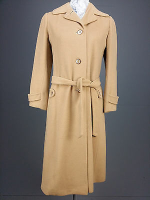 Vintage J.P Allen By Amicale sz 4 100% Cashmere Belted Trench Coat Camel Soft