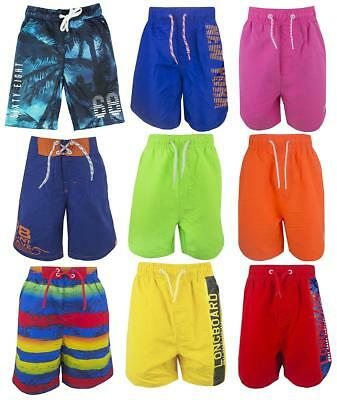 Boys Assorted Bright Colour Mesh Insert Board Beach Surf Swim Shorts 5-16 Years