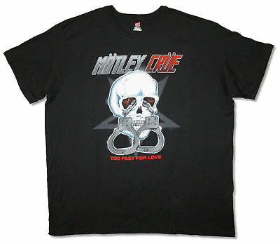 Motley Crue Too Fast For Love Skull Black T Shirt New Official Band Merch