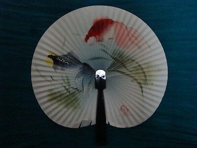 Shanghai Arts and Crafts Made in the People's Republic of China Hand Painted Fan