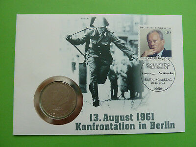 DDR Numisbrief - 13. August 1961 - 20 Mark 1973 Grotewohl - Worbes D-206