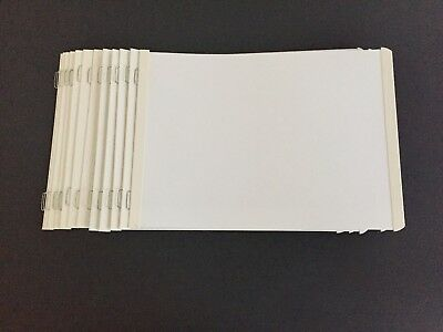 Creative Memories White 5x7 Album Refill Pages 13 Sheets Opened