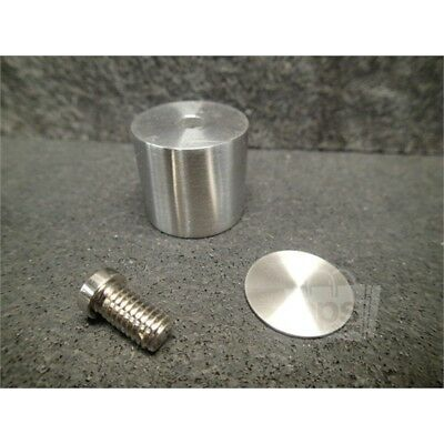"""CRL Laurence EG14 BS Brushed Stainless Edge Grip for 1/4"""" Material"""
