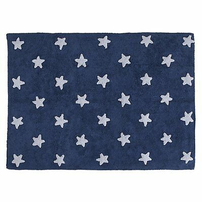 Lorena Canals Tappeto Lavabile Stelle Blu Navy/bianco