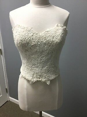 Lillian West 6440BOD *Bodice Only* Separates Sand/Ivory Size 14 Strapless