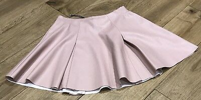 Girls River Island Faux Leather Skirt In Pink Age 4 Years - Bnwot -