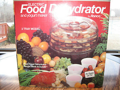 Vintage ronco electric food three tray meat dehydrator beef jerky vintage ronco electric food three tray meat dehydrator beef jerky forumfinder Choice Image