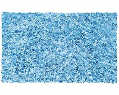 "The Rug Market Shaggy Raggy L/Blue Area Rug  Size 2.8'x4.8' Blue 2.8"" x 4... New"