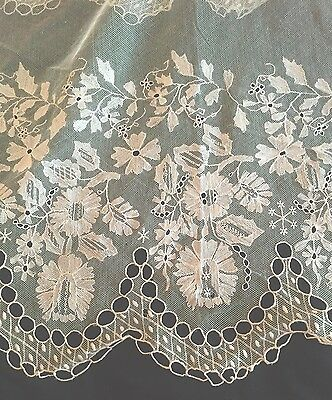 Gorgeous Vintage Canopy Bed Curtain With 15 Inch Lace