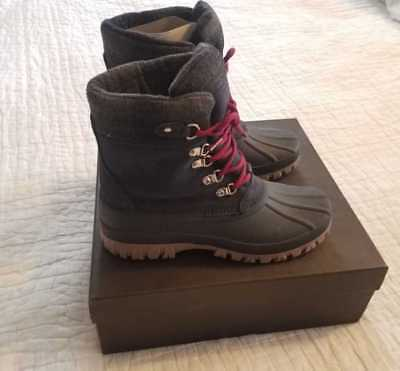 New In Box Women's 8 J Crew The Perfect Winter Snow Boots Artic Tall Navy H1891