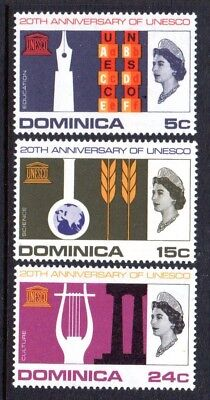 1966 DOMINICA UNESCO SG197-199 mint unhinged
