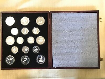 South Korea 1987 Seoul olympic 16 silver coin proof set