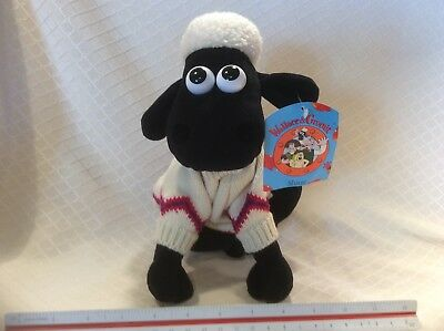 Wallace & Gromit Shaun the Sheep A Close Shave Plush Wearing Sweater Stuffed Toy