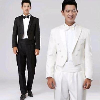 CHIC LUXURY MENS Tuxedo Suits Tailcoat Party Dress Formal Wedding ...