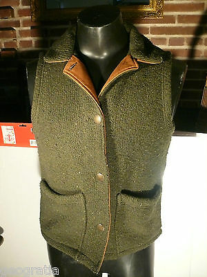 Woolrich Green Wool Vest w/ Collar Womens Size Small