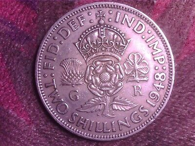 Great Britain    Two  Shilling  1948  Mm