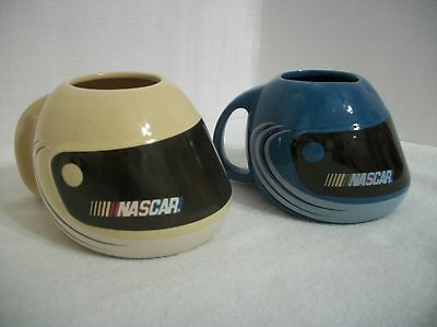 2003 Official NASCAR Racing Helmet Mugs, Set of 2, Yellow & Blue, by Sherwood