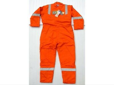Noz Bizflame Anti Static Flame Retardant Insulated Coveralls Size 52 Regular.