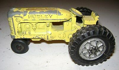 Vintage Old Antique Cast Iron Tractor Hubley Toy Kiddie Yellow Original