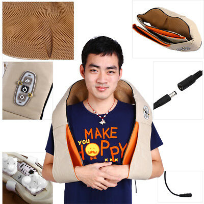 Electric Health Care Pillow Kneading Neck Shoulder Back Waist Belly Massager Car