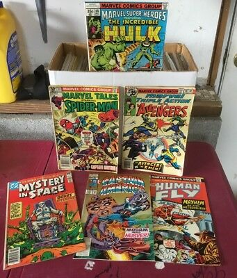 Huge lot of 125  marvel and D.C. Comics  nice collection Storage Unit Find