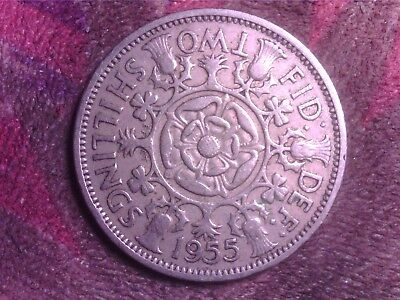 Great Britain    Two  Shilling  1955   Mtt