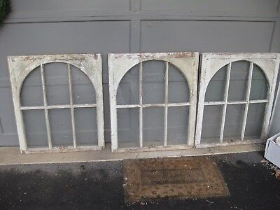 Three Antique Window Frames From Historic Florida Hotel