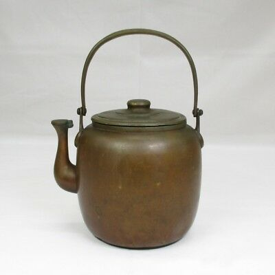 F160: Japanese quality copper ware kettle for tea ceremony with very good taste