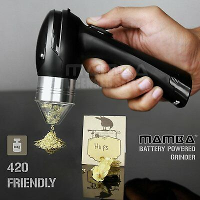 Mamba Powered Herb Grinder 20X Faster than Manual Grinder No Mess No Waste Grind