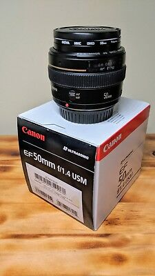 Canon EF 50mm f/1.4 USM Lens with UV filter in excellent condition
