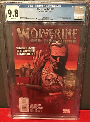 Wolverine 66 CGC 9.8 White Pages First Appearance Old Man Logan Story Movie X-23