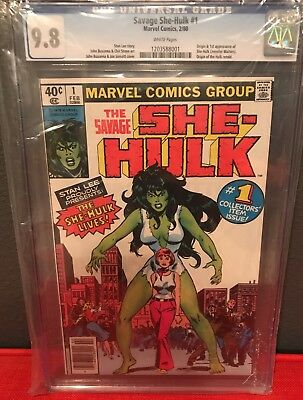 The Savage She-Hulk #1 CGC 9.8 White First Appearance Rare Newsstand UPC Variant