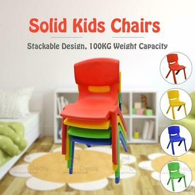Brand New Kids Toddler Plastic Chair Yellow Blue Red Green Up to 100KG