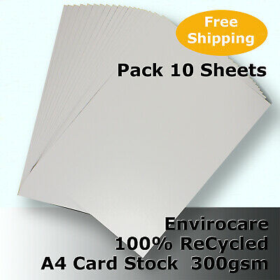 20 Sheets Cyclus 100% ReCycled Card A4 Size 300gsm Natural Colour #S3108 #D1