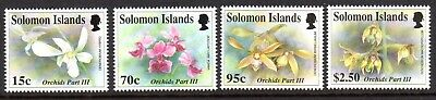 1992 SOLOMON ISLANDS ORCHIDS 3rd series SG748-751 mint unhinged