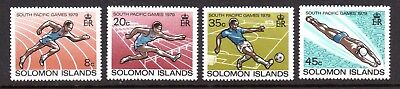 1979 SOLOMON ISLANDS SOUTH PACIFIC GAMES SG380-383 mint unhinged