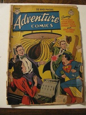 ADVENTURE COMICS #153 Golden Age Comic Book DC 1950  Superman