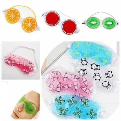 Ice Gel Eye Mask Cold Pack Warm Hot Ice Cool Soothing Tired Eyes&Headache Pad